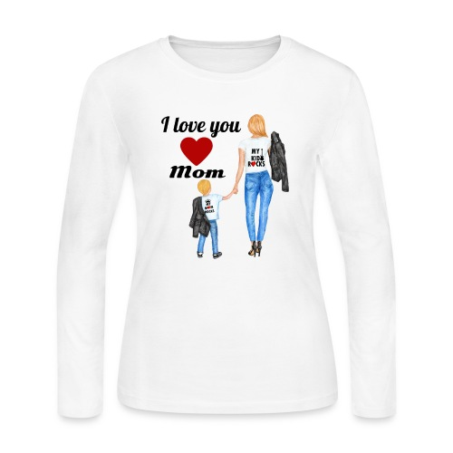 Mother's day gift from daughter, Mother's Day Gift - Women's Long Sleeve Jersey T-Shirt