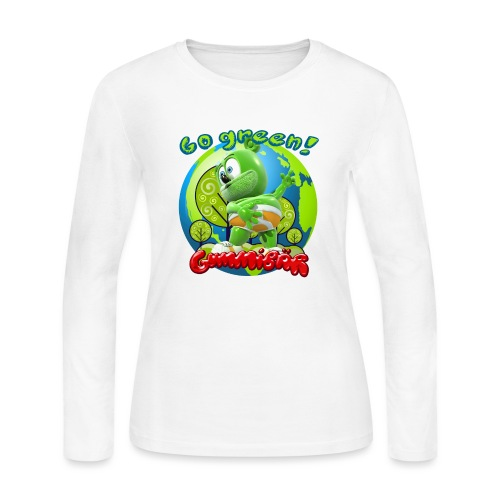 Gummibär Go Green Earth Day Earth - Women's Long Sleeve Jersey T-Shirt