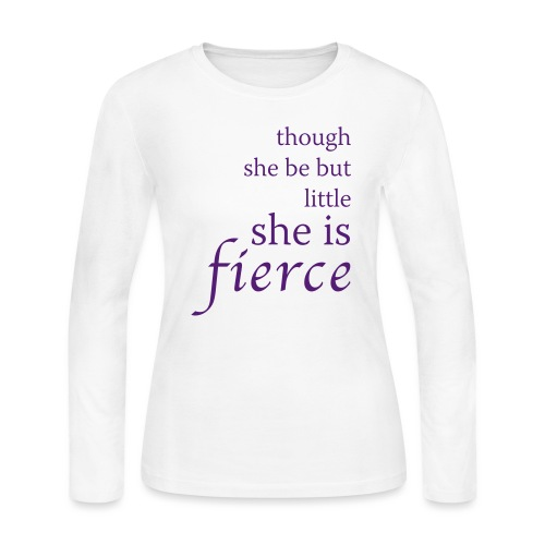 She Is Fierce - Women's Long Sleeve Jersey T-Shirt