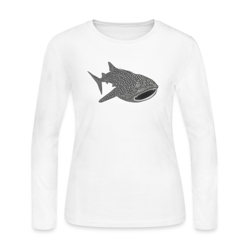save the whale shark sharks fish dive diver diving - Women's Long Sleeve T-Shirt