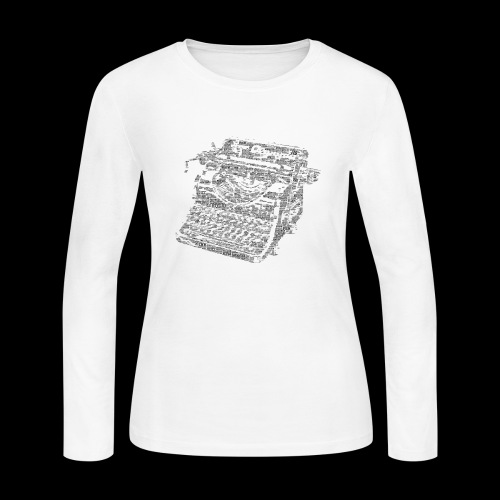 Typewritten Logophile - Women's Long Sleeve Jersey T-Shirt