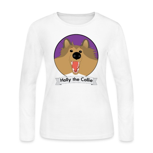 Holly the Collie banner - Women's Long Sleeve Jersey T-Shirt