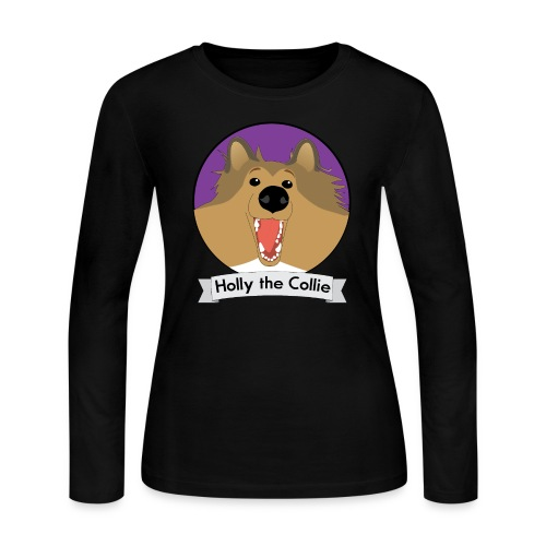 Holly the Collie banner - Women's Long Sleeve T-Shirt