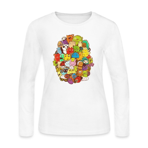 Doodle for a poodle - Women's Long Sleeve Jersey T-Shirt