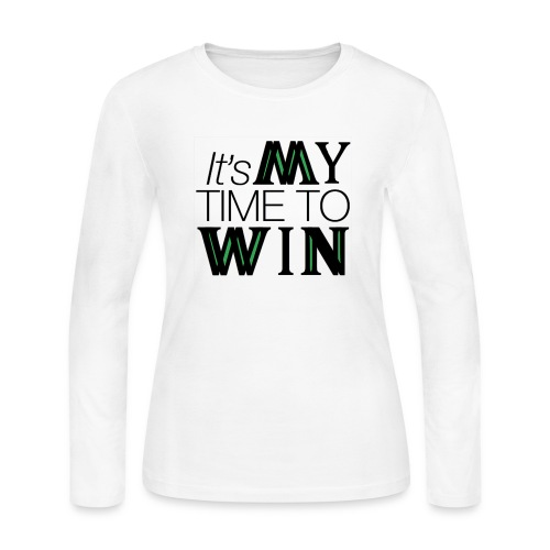 It's My Time WIN - Women's Long Sleeve Jersey T-Shirt