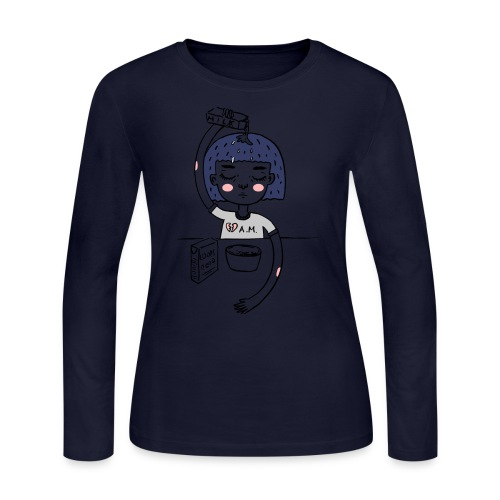 Milk and cereals in the morning - Women's Long Sleeve Jersey T-Shirt