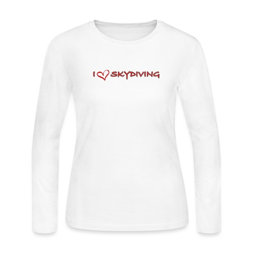 I love skydiving T-shirt/BookSkydive - Women's Long Sleeve Jersey T-Shirt