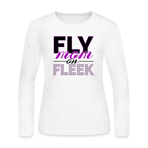 FLY Mom on FLEEK - Women's Long Sleeve Jersey T-Shirt