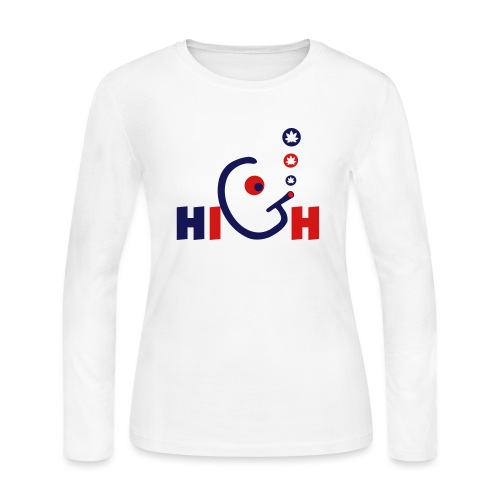 High - Women's Long Sleeve Jersey T-Shirt