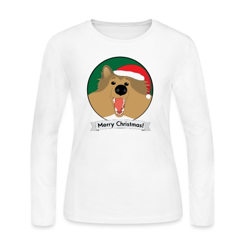 Holly the Collie Xmas - Women's Long Sleeve T-Shirt