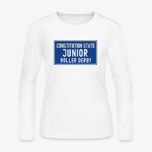 Constitution State Junior Roller Derby - Women's Long Sleeve Jersey T-Shirt