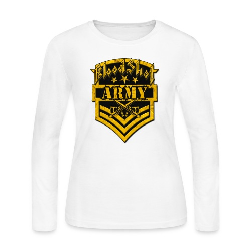 BloodShot ARMYLogo Gold /Black - Women's Long Sleeve Jersey T-Shirt