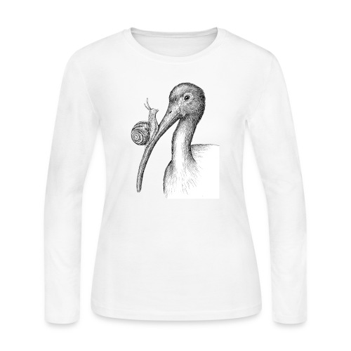 Ibis with Snail by Imoya Design - Women's Long Sleeve Jersey T-Shirt
