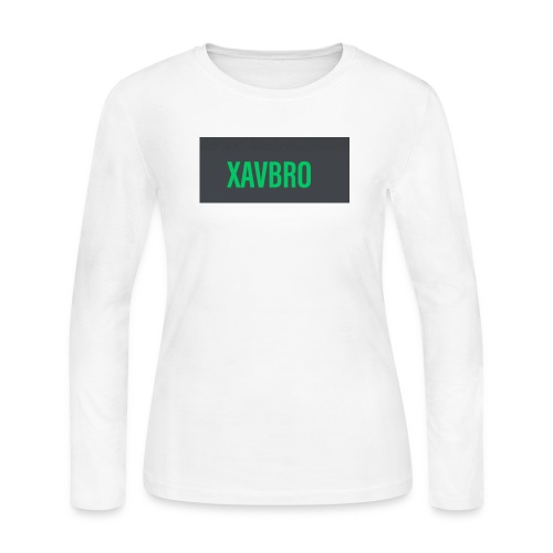 xavbro green logo - Women's Long Sleeve Jersey T-Shirt