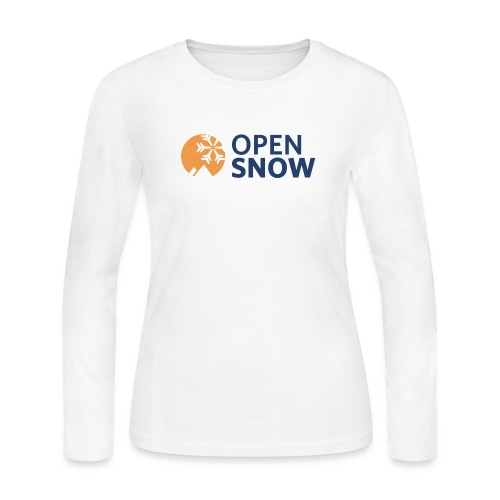 OpenSnow Horizontal Logo - Women's Long Sleeve Jersey T-Shirt