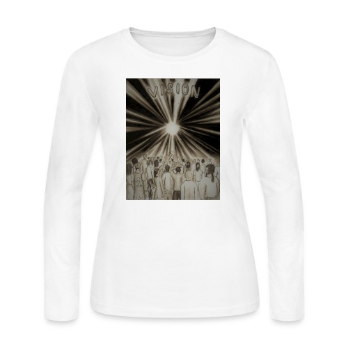 Black_and_White_Vision2 - Women's Long Sleeve Jersey T-Shirt