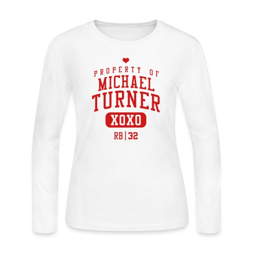 PROPERTY OF RB Michael Turner 32 - Women's Long Sleeve Jersey T-Shirt