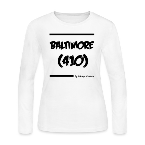 BALTIMORE 410 BLACK - Women's Long Sleeve Jersey T-Shirt