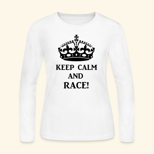 keepcalmraceblk - Women's Long Sleeve Jersey T-Shirt