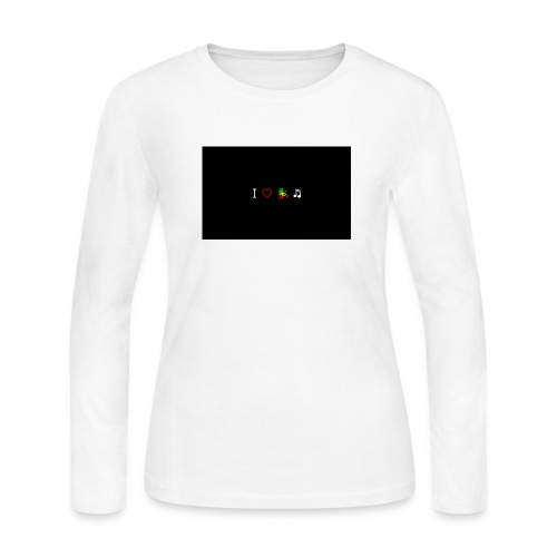 i love reggae music - Women's Long Sleeve Jersey T-Shirt