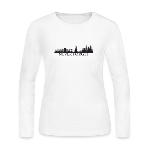 New York: Never Forget - Women's Long Sleeve Jersey T-Shirt