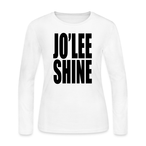JO'LEE SHINE WOMEN'S T SHIRT WHT/PNK - Women's Long Sleeve Jersey T-Shirt
