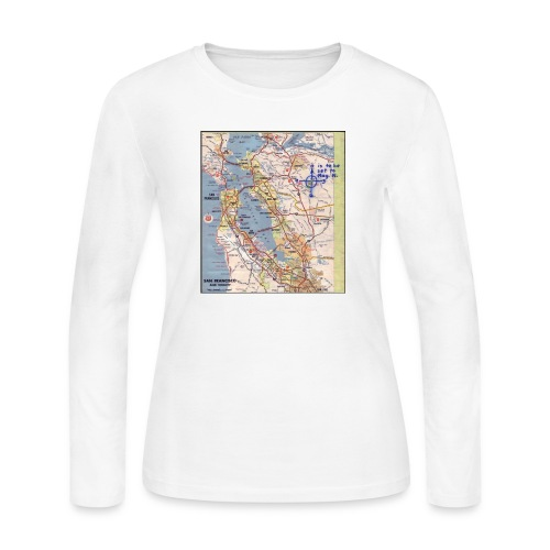 Phillips 66 Zodiac Killer Map June 26 - Women's Long Sleeve Jersey T-Shirt