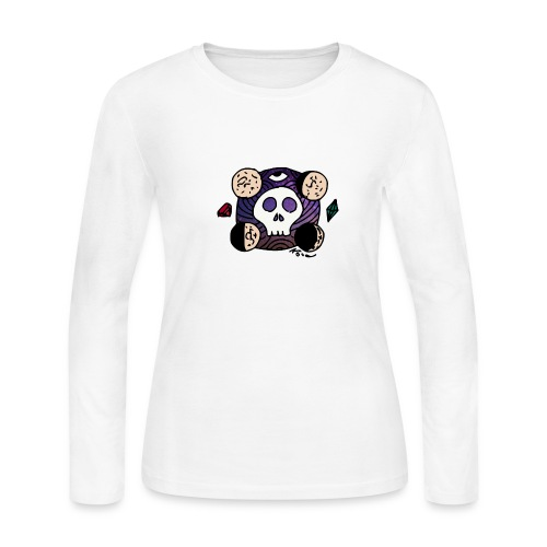 Moon Skull from Outer Space - Women's Long Sleeve T-Shirt
