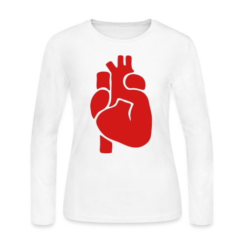 Realistic Heart - Women's Long Sleeve Jersey T-Shirt
