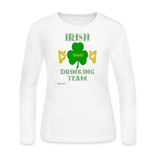 Irish Drinking Team - Women's Long Sleeve Jersey T-Shirt