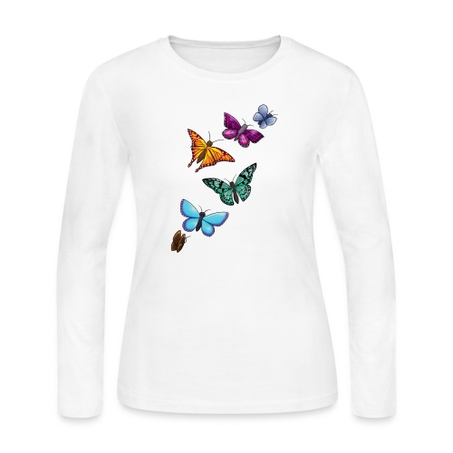 butterfly tattoo designs - Women's Long Sleeve Jersey T-Shirt