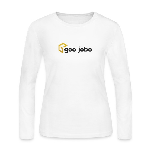 GEO Jobe Corp Logo - Black Text - Women's Long Sleeve Jersey T-Shirt