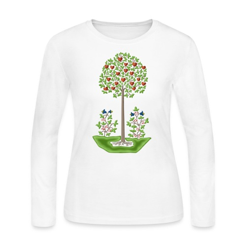 Fraktur Tree of Love - Women's Long Sleeve Jersey T-Shirt