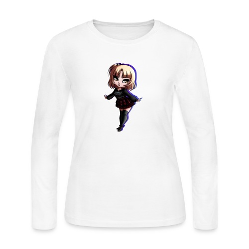 Cute Goth Girl - Women's Long Sleeve Jersey T-Shirt