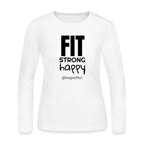 fit strong happy black - Women's Long Sleeve Jersey T-Shirt