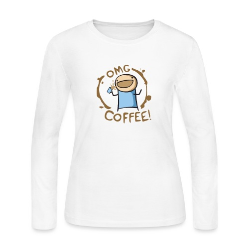 OMG COFFEE - Women's Long Sleeve Jersey T-Shirt