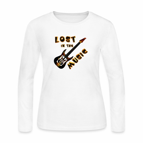 Lost in the Music - Women's Long Sleeve Jersey T-Shirt