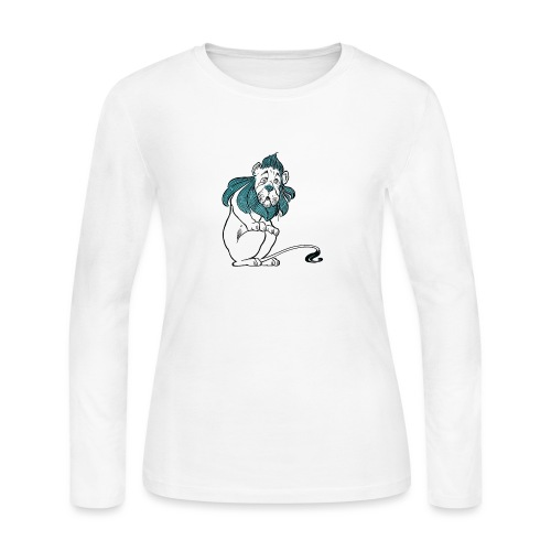 The Cowardly Lion - Women's Long Sleeve Jersey T-Shirt