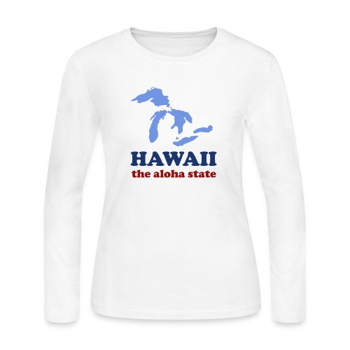 Geographically Impaired - Women's Long Sleeve Jersey T-Shirt