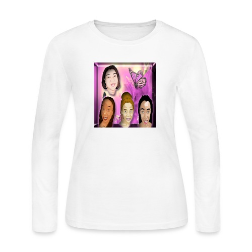 (family_first_revised) - Women's Long Sleeve Jersey T-Shirt