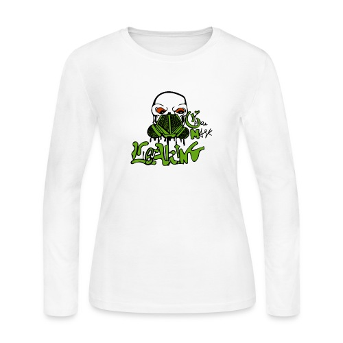 Leaking Gas Mask - Women's Long Sleeve Jersey T-Shirt
