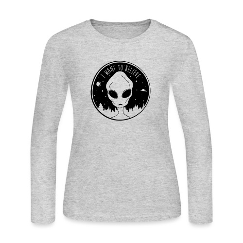 I Want To Believe - Women's Long Sleeve Jersey T-Shirt