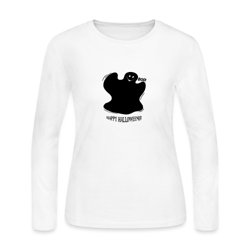 Boo! Ghost - Women's Long Sleeve Jersey T-Shirt
