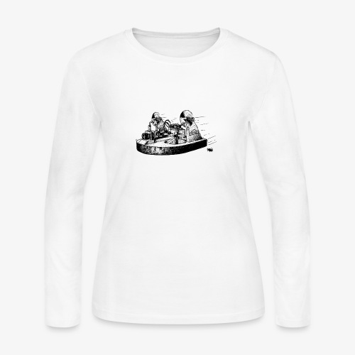 TINY WHOOV - DRAWING - Women's Long Sleeve Jersey T-Shirt