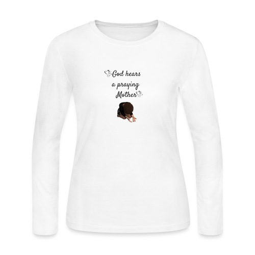 Praying Mother - Women's Long Sleeve Jersey T-Shirt
