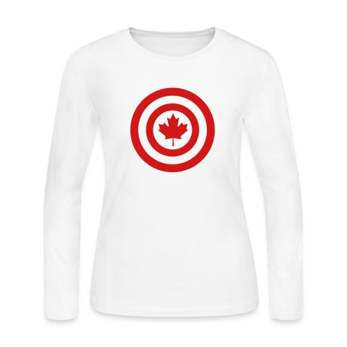 Captain Canada - Women's Long Sleeve Jersey T-Shirt