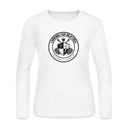 Looking For Heather - Crest Logo - Women's Long Sleeve Jersey T-Shirt