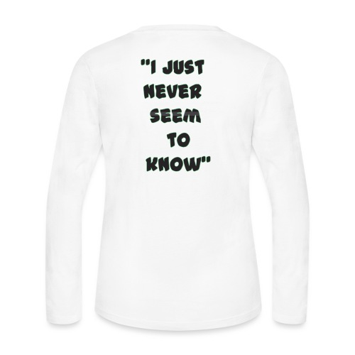 know png - Women's Long Sleeve Jersey T-Shirt