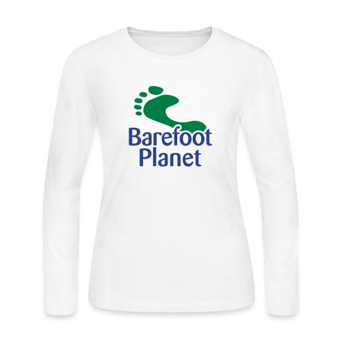 Get Out & Run Barefoot Women's T-Shirts - Women's Long Sleeve Jersey T-Shirt