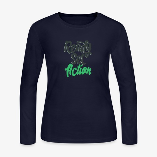Ready.Set.Action! - Women's Long Sleeve Jersey T-Shirt
